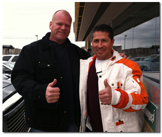Mike Holmes with Green (Plus) Order, Owner Mike Brando